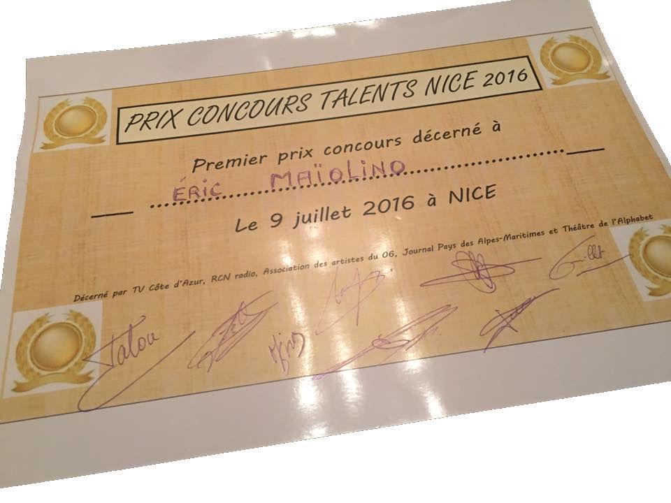 Diplome Nice Talent 2016
